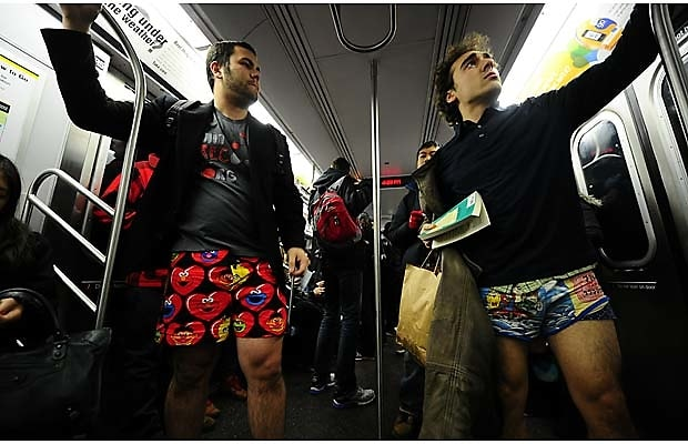 Pants Off Subway 2011