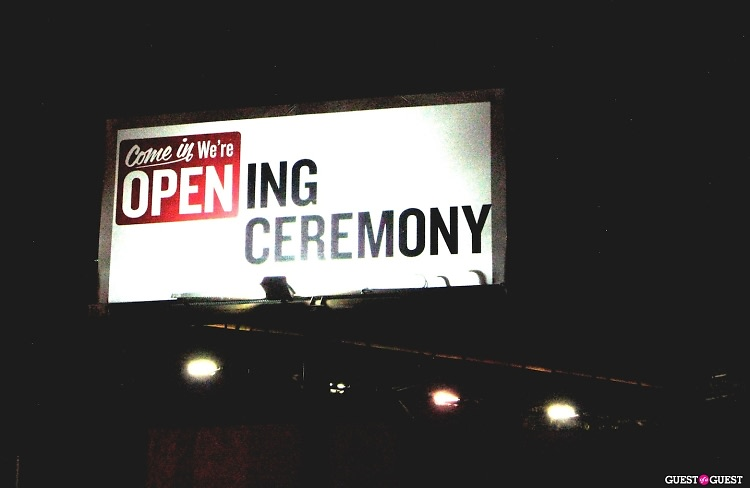 Opening Ceremony billboard