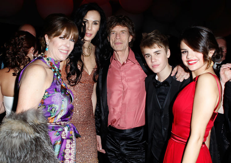 Rita Wilson, L'Wren Scott, Mick Jagger, Selena Gomez