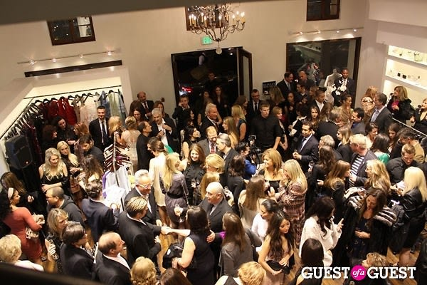 Inside the badgley mischka rodeo drive store opening for Badgley mischka store nyc