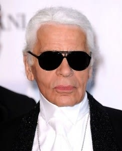 Karl Lagerfeld. Not a happy Kamper.