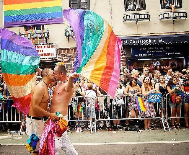 Gay men masterbate on the floor