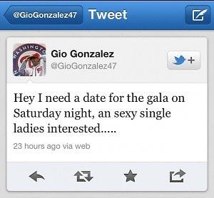 Gio Gonzalez Tweet
