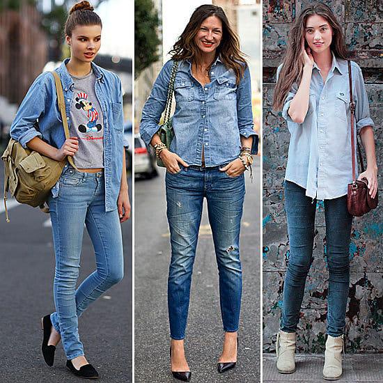 Как модно одеться с джинсами