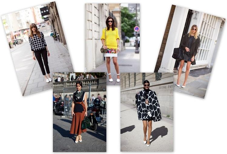 White Shoe Street Style Trend