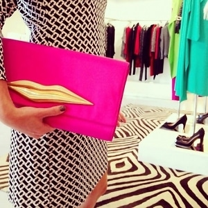 DVF Lips Clutch