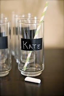 Chalk Note Glassware
