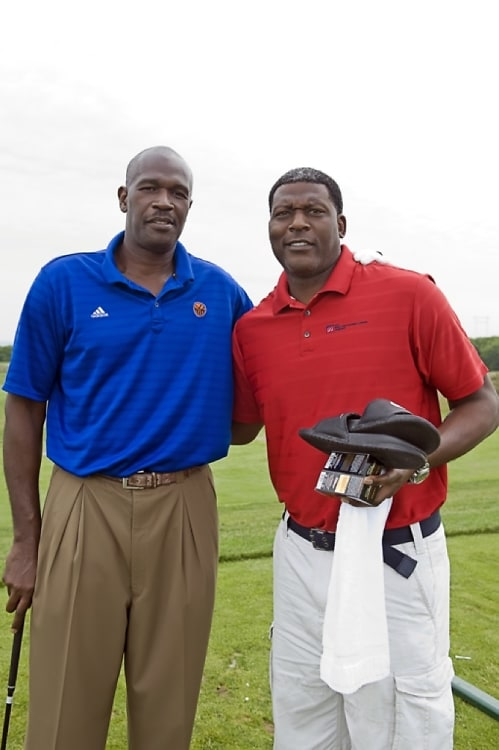 Herb Williams and Larry Johnson