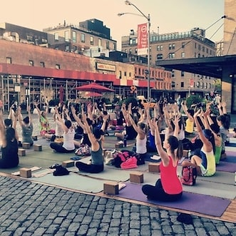 Outdoor Yoga Classes at Exhale