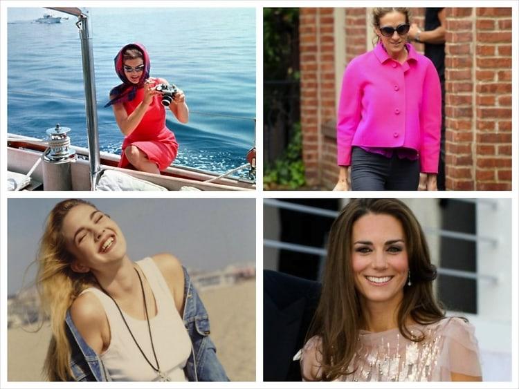 Jackie Kennedy, Drew Barrymore, Sarah Jessica Parker, Kate Middleton