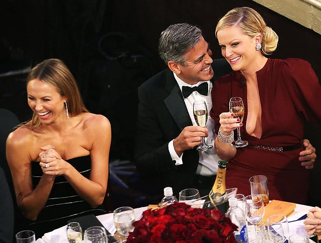 Stacy Keibler, George Clooney, Amy Poehler