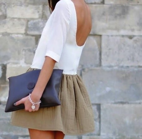 Backless dress street style
