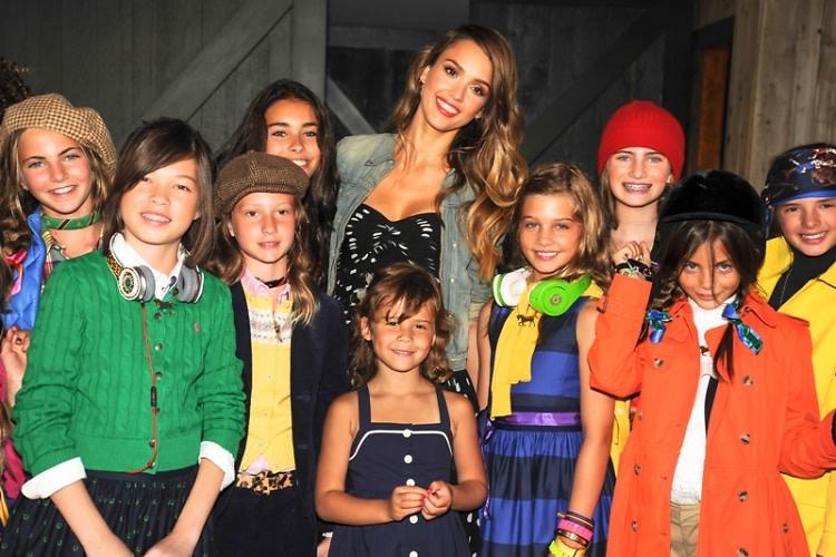Jessica Alba with Models