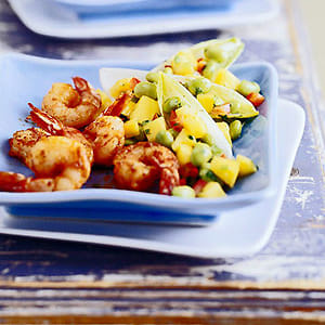Mango Shrimp in Endive Leaves