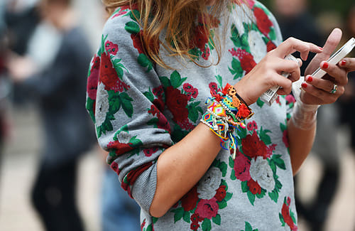 floral sweater