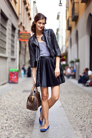 Street Style Trend: 7 Ways To Wear A Leather Pleated Skirt