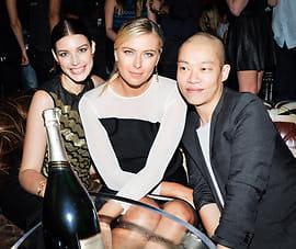 Jessica Pare, Maria Sharapova, Jason Wu