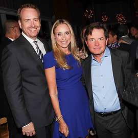 Robert Greenblatt, Michael J. Fox, Tracy Pollan