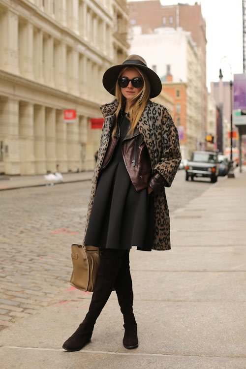 leather boot street style