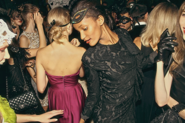 Vogue Paris's 90th anniversary masquerade ball