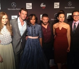Darby Stanchfield, Kerry Washington, Guillermo Diaz, Katie Lowes, Joshua Malina