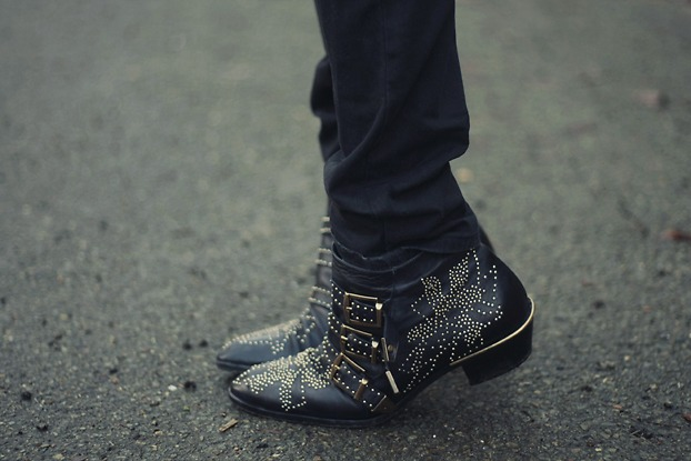 Chloe Susan Studded Boots Street Style
