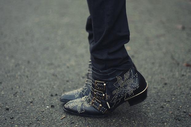 Chloe Susan Studded Boots Street Style