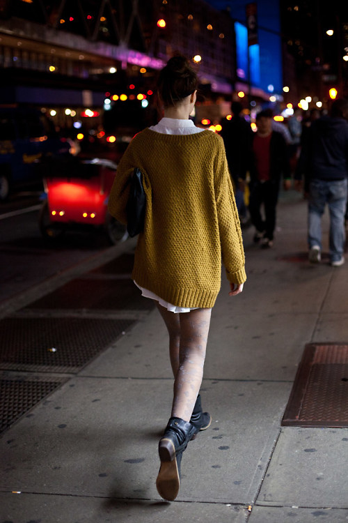 Winter Evening Street Style