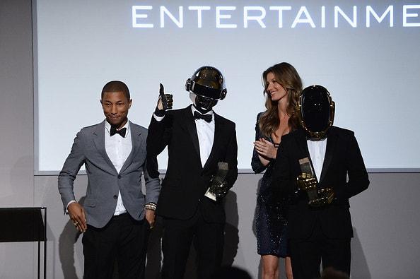 Pharrell, Daft Punk, Gisele Bundchen