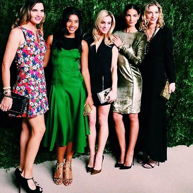 Veronica Miele Beard, Hannah Bronfman, Chelsea Leyland, Lily Aldridge, Veronica Swanson Beard