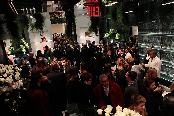 Last night 39 s parties the fashion set heads downtown for for Balenciaga store in soho