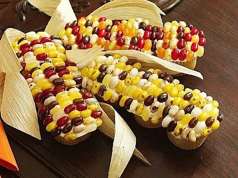 Indian Candy Corn Cupcakes