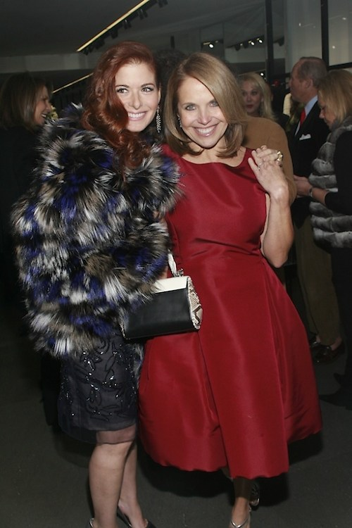 Debra Messing, Katie Couric