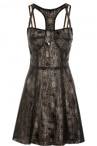 Laser-Cut Patent-Leather Dress
