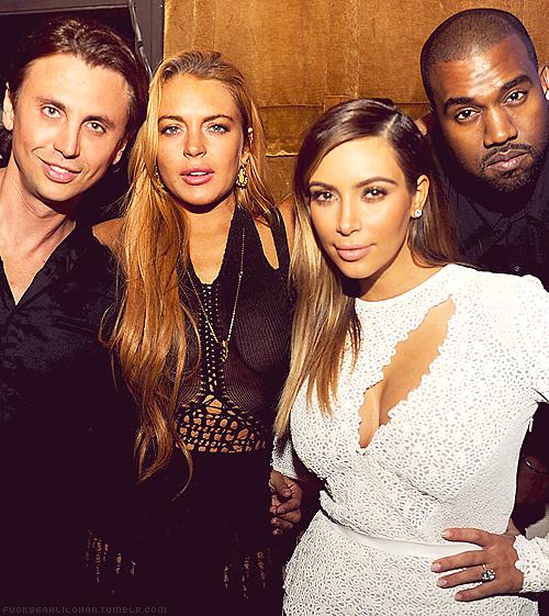 Jonathan Cheban, Lindsay Lohan, Kim Kardashian, Kanye West