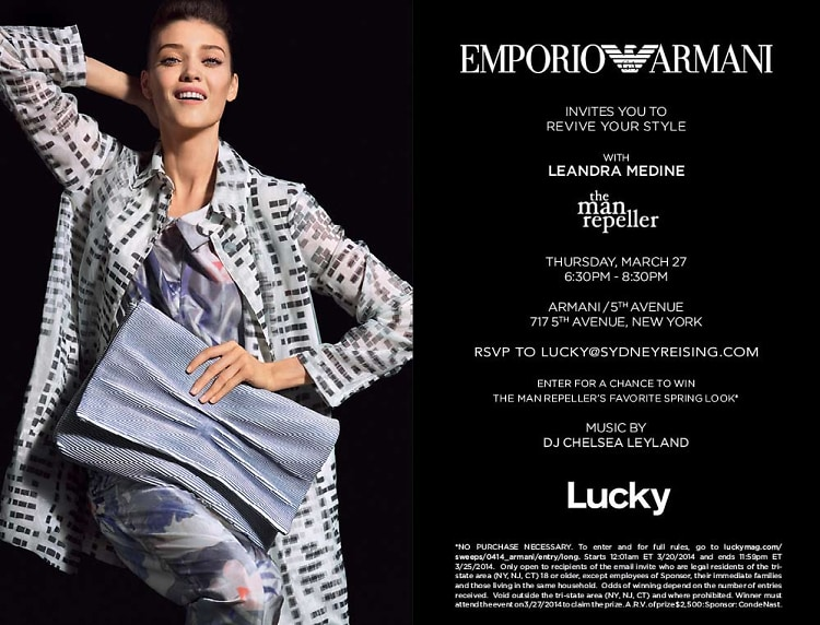 Revive Your Style with Emporio Armani and The Man Repeller's Leandra Medine
