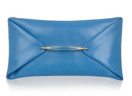 Nina Ricci Folded Case Leather Envelope Clutch