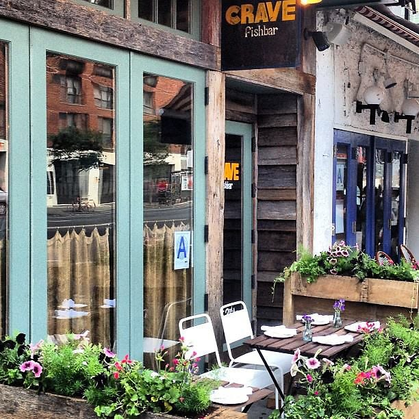 10 nyc happy hour spots with outdoor seating for Crave fish bar
