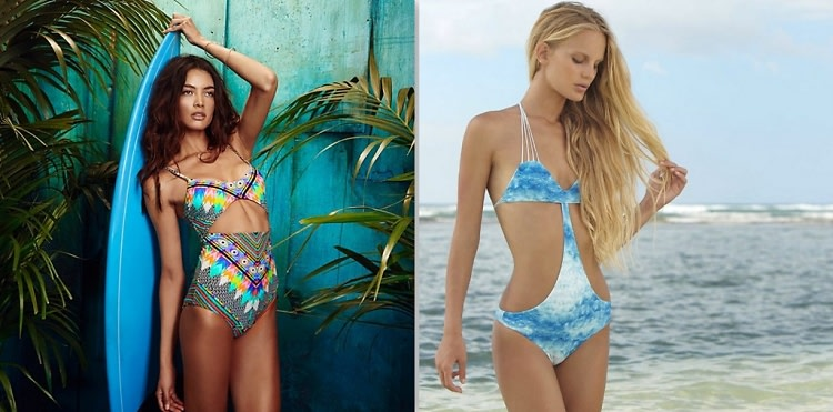 Cut-Out Bathing Suits