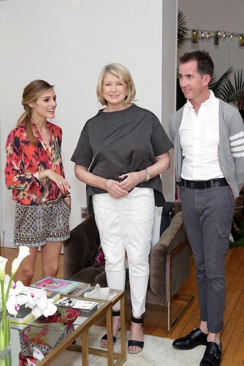 Olivia Palermo, Martha Stewart, Kevin Sharkey