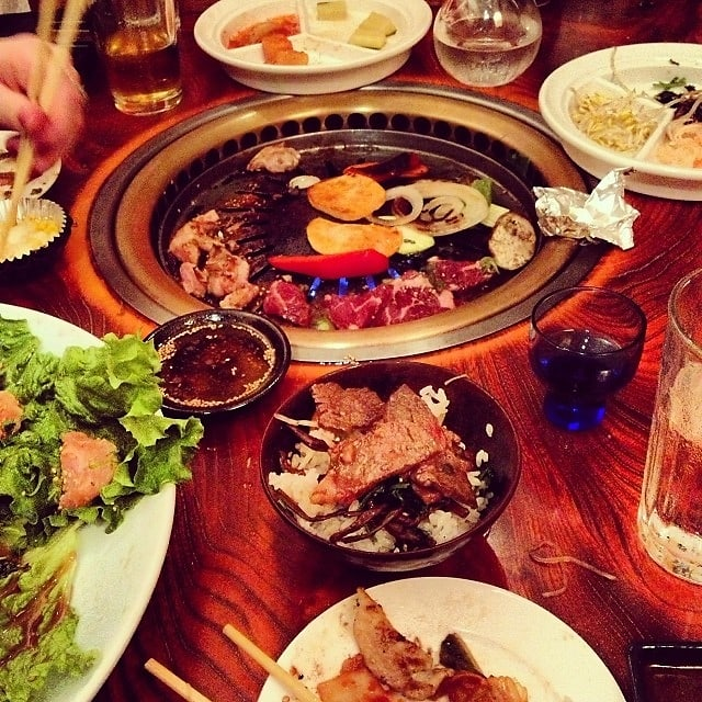Adventurous dining 6 experience restaurants to try in nyc this east village gem offers a unique restaurant experience with do it yourself table cooking in japanese style bbq with pitchers of beer and raw meat solutioingenieria Image collections
