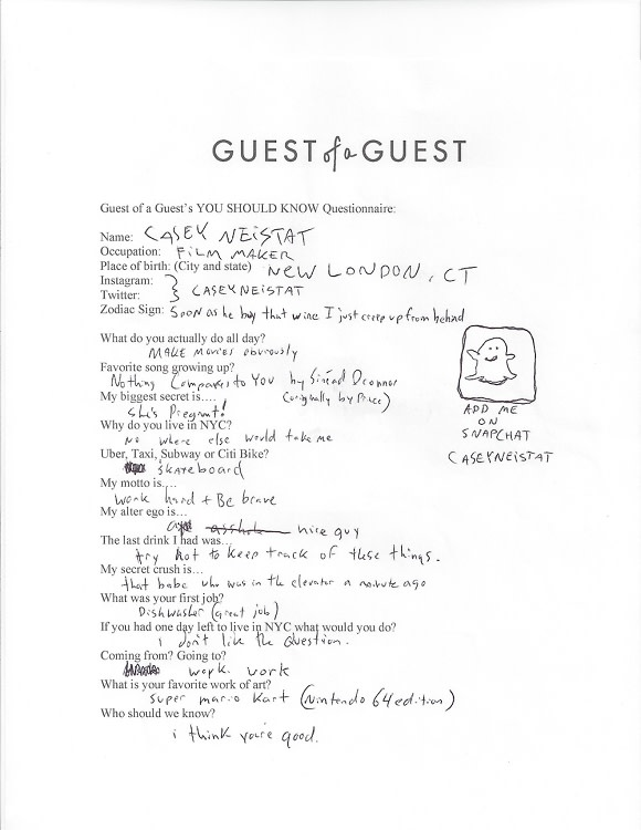 Casey Neistat Questionnaire