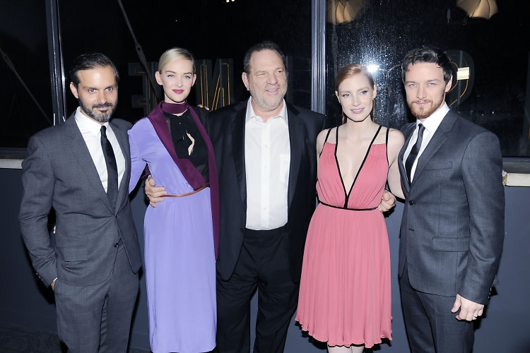 Ned Benson, Jess Weixler, Harvey Weinstein, Jessica Chastain, James McAvoy