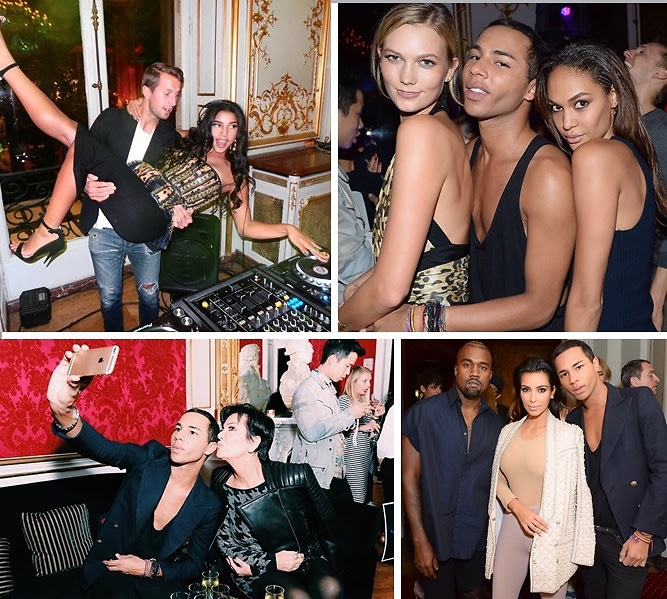 Karlie Kloss, Kim Kardashian & More Celebrate Olivier Rousteing At The Balmain SS15 After Party In Paris