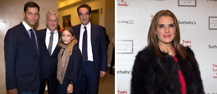 Mary-Kate Olsen, Olivier Sarkozy & More Step Out At The Take Home A Nude Auction
