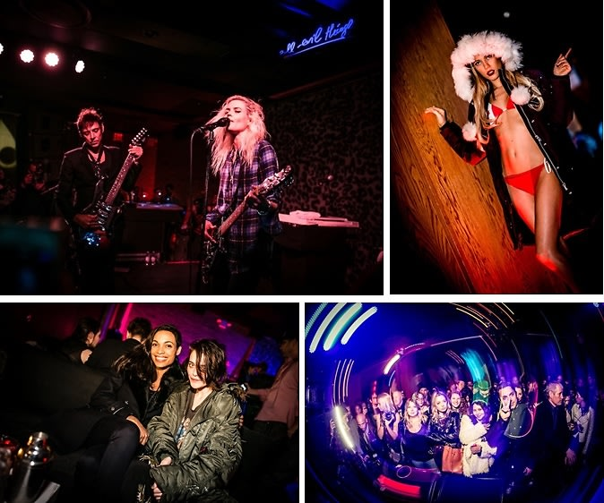 Sky Ferreira, Rosario Dawson & More Attend The Moose Knuckles U.S. Launch With A Performance By The Kills