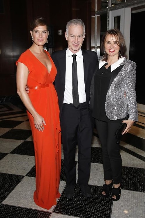 Brooke Shields, John McEnroe, Patty McEnroe