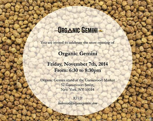 Organic Gemini Event