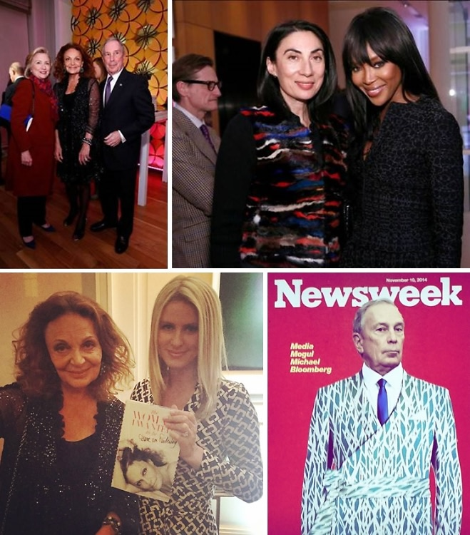 "Bloomberg In A Wrap Dress & More At Diane von Furstenberg's ""The Woman I Wanted To Be"" Book Launch"