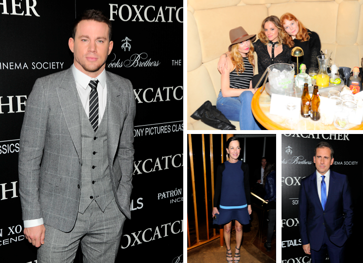 "Channing Tatum, Steve Carell & More Attend NYC's Screening Of Sony Pictures Classics' ""Foxcatcher"""